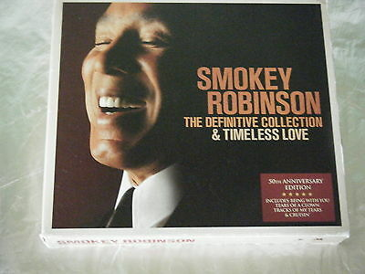 CD SMOKEY ROBINSON THE DEFINITIVE COLLECTION & TIMELESS LOVE Universal 2006 Blue