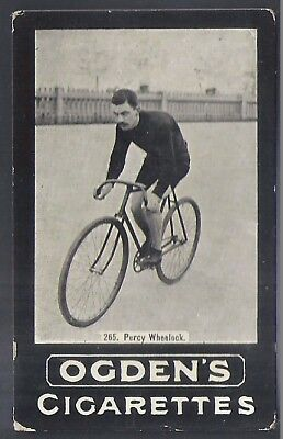 Ogdens Tabs-Series F Cycling Card-#f265- Percy Wheelock