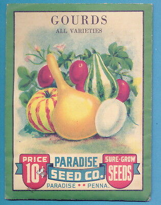 1942 Unopened Seed Packet - Paradise Seed Co - Pennsylvania - Gourds