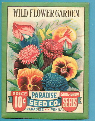 1942 Unopened Seed Packet - Paradise Seed Co - Pennsylvania - Wild Flower Garden