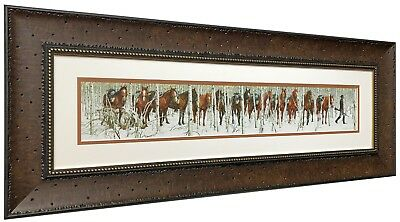 TWO INDIAN HORSES Art Print by Bev Doolittle Matted and Framed