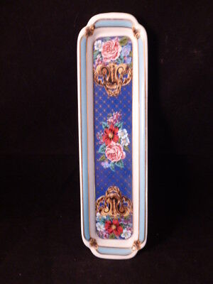 Vintage Neiman Marcus Porcelain Trinket Tray With Flowers Japan