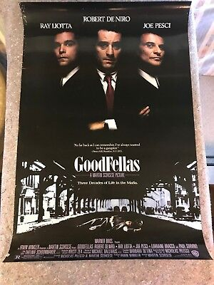"""GOODFELLAS 1990 ORIG 1 SHEET MOVIE POSTER 27""""x40 1/2"""" (VG/F) ROLLED/DOUBLE SIDED"""