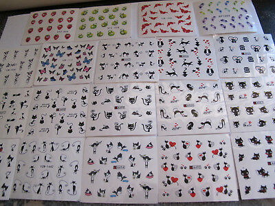 19 sheets Nail Art Transfer Water Decal Stickers Assorted Designs as shown NEW