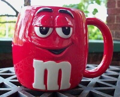 "M&M Candy ""RED"" Character Ceramic Coffee Cup Licensed Collector Mug GALERIE 2003"