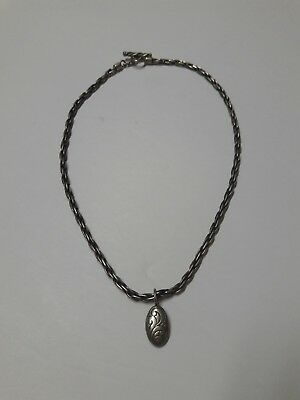 Lois Hill Sterling Silver Filigree Pendant Toggle Necklace 16.5in 29g