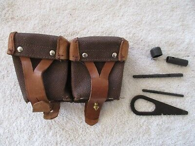 Mosin Nagant 91/30 Rifle cleaning maintenance tool kit with ammo pouch 7.62x54r
