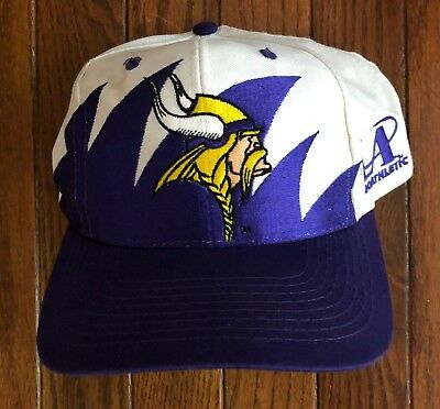 Vintage 90s Minnesota Vikings Sharktooth Logo Athletic NFL Snapback Hat Cap 6d7465bc2