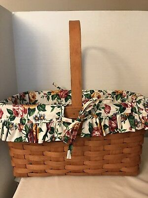 1992 Longaberger Medium Market  Basket, Fabric