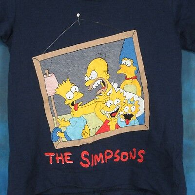 5f2c54bb7 Like us on Facebook · NOS vintage 80s THE SIMPSONS CARTOON YOUTH KIDS T-Shirt  bart homer tv thin 90s