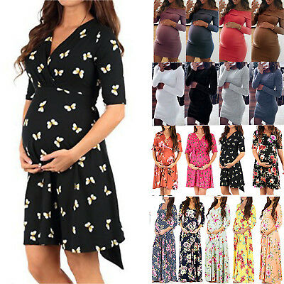 Pregnancy Maternity Clothes Maxi Dresses Casual Mini Dress Shirt Tunic Plus Size