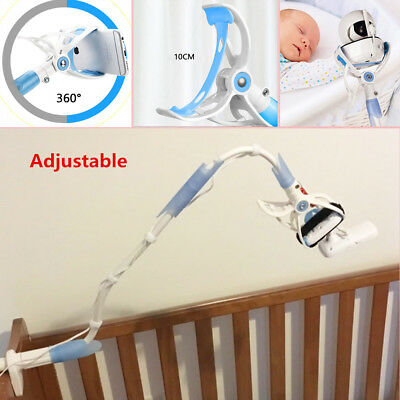 Universal Baby Flexible Camera Stand Mount Video Monitor Holder For Cot Bed Crib