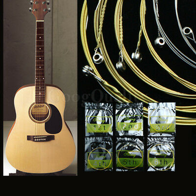 1 Set of 6pcs Steel Strings for Acoustic Guitar 150XL 1 M 1st-6th String AXV