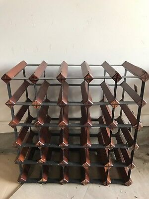25 Bottle Timber Wine Rack Wooden Storage Cellar Vintry Organiser