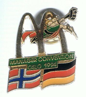 Mc Donalds - Manager Convention Oslo 1994 - Pin aus Metall
