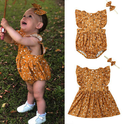 b2284780fd73 Toddler Kid Baby Girl Sister Matching Floral Jumpsuit Romper Dress Outfits  Set