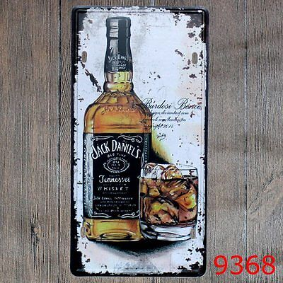Metal Tin Sign jack daniel's' Decor Bar Pub Home Vintage Retro Poster Cafe ART