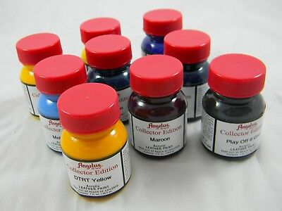Collectors Edition 3 PACK Angelus Leather Acrylic Paint 29.5ml/1oz pot