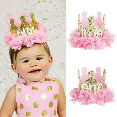 New Baby Girl Boy Birthday Crown Party Hat Headband Party Hair Bands Accessories