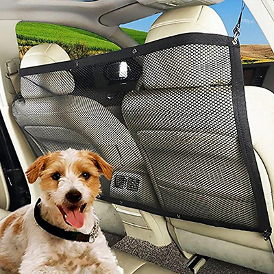 "Dog Car Barrier Mesh Net Barrier for SUV Trunk Size 45.2"" x 24.4"" Tempting Hot"