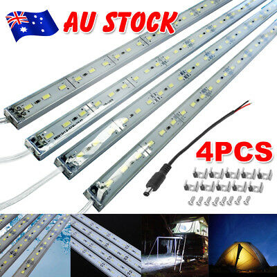 4X12V Cool White 5630 Led Strip Lights Bars Camping Waterproof Caravan Boat Car
