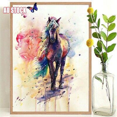 RGB Horse Picture Abstract Canvas Wall Art Painting Pictures Home Hanging Decor