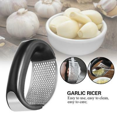 Home Kitchen Mincer Tool Stainless Steel Garlic Press Crusher Squeezer Masher