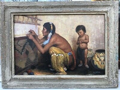 1930s CANADIAN / NORTH AMERICAN / NATIVE AMERICAN OIL PAINTING signed A.I.Casson