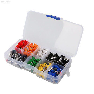 A7DF 400Pcs Insulated Wire Crimp Connector Pin End Terminal Ferrules Kit Set wit