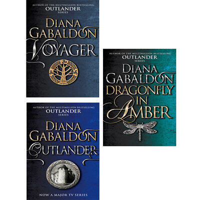 Dragonfly In Amber,Outlander,Voyager by Diana Gabaldon Collection 3 books setNEW
