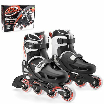 Osprey Boys Inline Skates - Adjustable Roller Skates - Multiple Sizes - Red