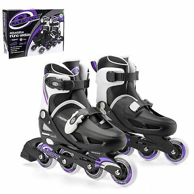 Osprey Girl's Inline Skates - Adjustable Roller Skates - Multiple Sizes - Purple