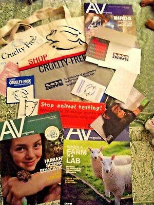 Leaping Bunny Aavs Cruelty Free Tote Bag Save Pet Fire Bumperstickers Mags Lot