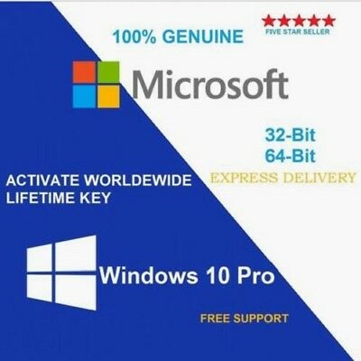 License / Licenza Microsoft Windows 10 PRO 32 / 64 BIT