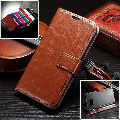 For Samsung Galaxy S7 Edge, Luxury Leather Wallet Flip Kickstand Cover Case
