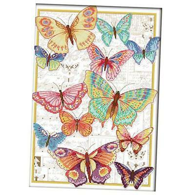 Stamped Cross Stitch Kit 11CT 14CT Embroidery Butterfly Pattern Hand Crafts