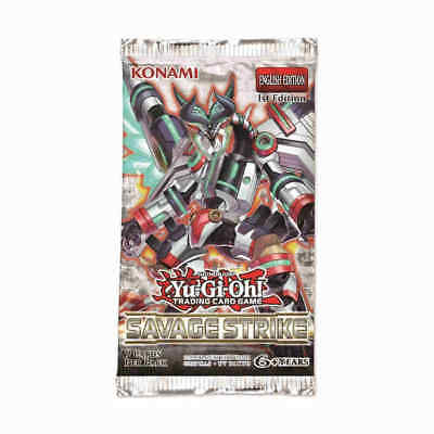 Yugioh Savage Strike Sast Booster Pack Brand New Sealed 1St Edition