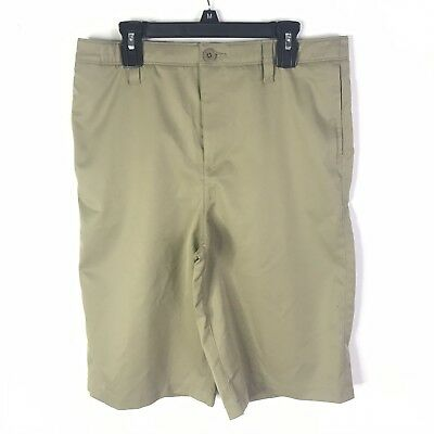 New Under Armour Boys' Khaki Formal Shorts Size 18 MSRP $39.99