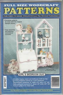 Winfield BEDROOM HUTCH & DOLL HOUSE WOODWORKING PATTERN - NEW