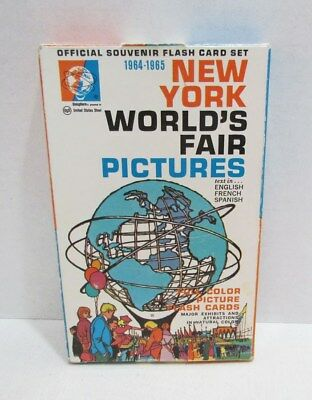New York World's Fair 1964-1965 Official Souvenir Flash Card Pictures Set W/ Box