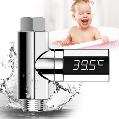 LED Digital Shower Temperature Display Water Thermometer Monitor RealTime New