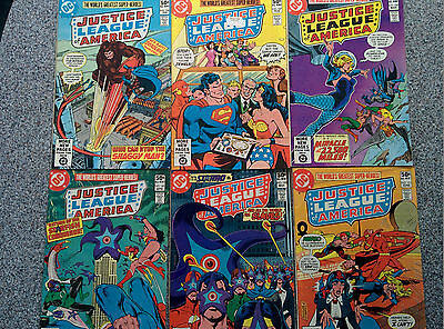 12 copies of Justice League Of America - Complete Year (1981) Jan - December