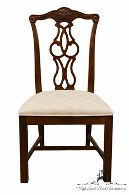 STANLEY FURNITURE Solid Cherry Chippendale Style Dining Side Chair