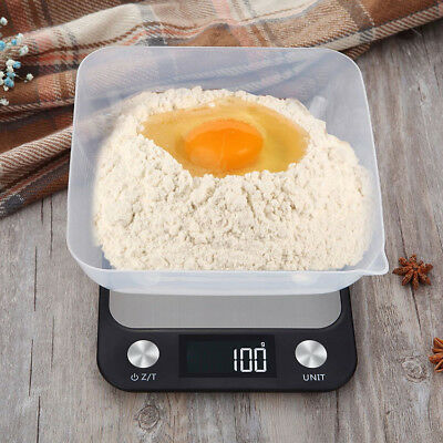 10kg/5kg Baking Hanging Digital Scale Stainless Steel Food Weighing LCD Kitchen