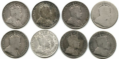 Lot of 8 Mixed Date Canada Silver Dimes w/ 1909 Broad Leaves Variety!