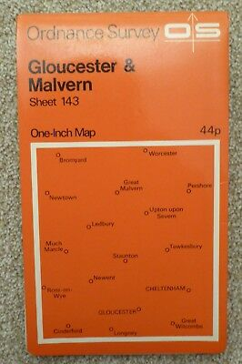"Gloucester & Malvern - 1968 Vintage Ordnance Survey 1"" Map"
