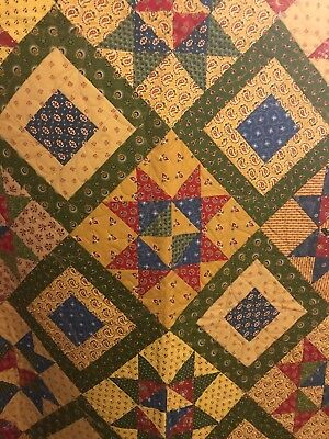 Beautiful Handmade Quilt With Amazing Colors And Fabrics!