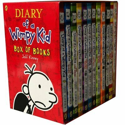 Diary of a Wimpy Kid 12 Books Complete Collection Set Box of Books  - Paperba...