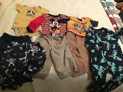 Toddler Boys Clothes Size 18-24 Mos Lot Of 8 Pants Shirts Pajamas