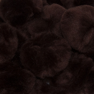 1 inch Brown Small Craft Pom Poms 100 Pieces